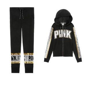 Black/silver/gold bling full set! VS PINK